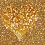 Бисер (5гр) 17020/462, золотистый (блестящий)