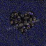 Бисер (10гр) 37110/475, синий (блестящий)