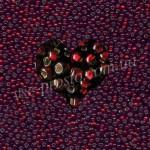 Бисер (10гр) 97120/498, красный (блестящий)