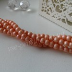 Жемчуг персиковый №088 матовый, низка (200 шт.), 4мм