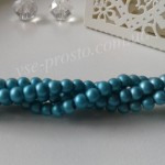 Жемчуг голубой №092 матовый, низка (200 шт.), 4мм