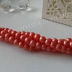 Жемчуг розовый №094 матовый, низка (200 шт.), 4мм