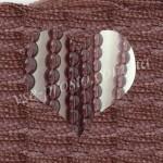 БУСИНЫ, темно-фиолетовые №015, круглые, 4mm, низка