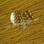 БУСИНЫ золотистые №028, круглые, 4mm, низка