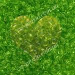 Бисер (5гр) 50220/117, салатовый (натуральный прозрачный)