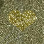 Бисер 17786/514, оливковый