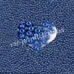 Бисер (10гр) 38210/529, синий (жемчужный)