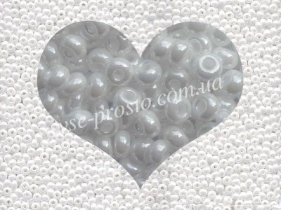 Бисер (5гр) 46102/530, белый (непрозрачный жемчужный)