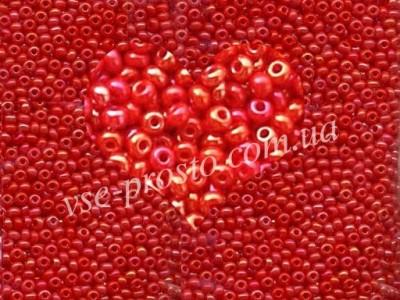 Бисер (5гр) 94170/552, красно-розовый (жемчужный радужный)