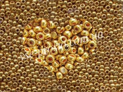 Бисер (5гр) 18581/573, золотой (металлизированный)