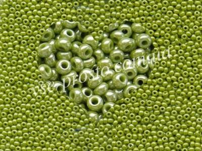 Бисер (5гр) 58430/600, оливковый (непрозрачный жемчужный)