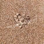 Бисер (5гр) 38317/613, бежево-ванильный (прозрачный, прокрашен изнутри)