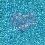 Бисер (10гр) 38332/618, голубой (прозрачный, прокрашен изнутри)