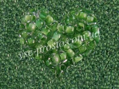Бисер (5гр) 38357/622, зеленый (прозрачный, прокрашен изнутри)