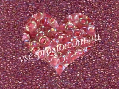 Бисер (5гр) 58598/629, розовый (прокрашен радужный)