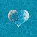 Бисер 38365/652, голубой (матовый)
