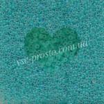Бисер 38358/655, бирюзово-зеленый (матовый)