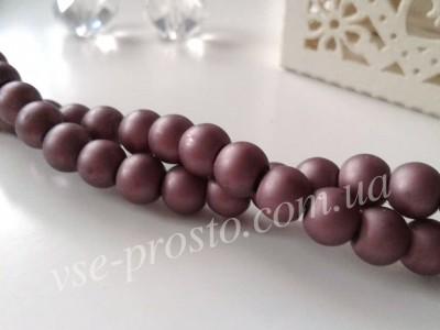 Жемчуг фиолетовый матовый №066, низка (150 шт.), 6мм