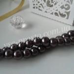 Жемчуг коричнево-фиолетовый №076, низка (145 шт.), 6мм
