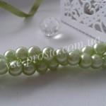 Жемчуг зеленый №023, низка (145 шт.), 6мм