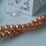 Жемчуг персиковый №071, низка (145 шт.), 6мм