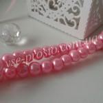 Жемчуг розовый яркий, низка (145 шт.), 6мм