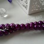 Жемчуг фиолетовый  №069, низка (145 шт.), 6мм