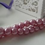 Жемчуг фиолетовый светлый, низка (145 шт.), 6мм