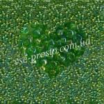 Бисер (5гр) 51430/763, зеленый (прозрачный радужный)