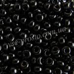 Бисер 23980/4035, черный, 4/0