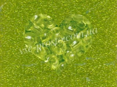 Бисер (5гр) 01153/816, зеленый (сольгель кристаллический)