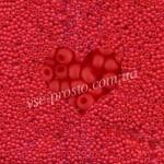Бисер (10гр) 93170/831, красный (натуральный матовый)