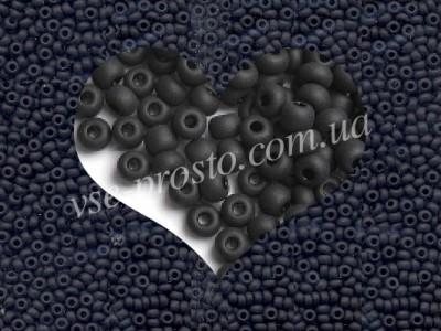 Бисер (5гр) 23980/834, черный (натуральный матовый)