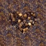Рубка САТИН 15101/838, коричневая 10/0