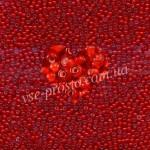 Бисер (5гр) 95076/858, красный (цветной с белой серединкой)