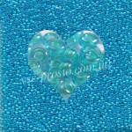 Бисер 61353/879, бирюзово-голубой