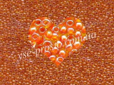 Бисер (5гр) 81393/882, оранжевый (хамелеон)
