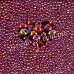 Бисер (10гр) 14600/886, бордовый (жемчужный радужный)