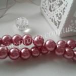Жемчуг розовый темный, низка (105 шт.), 8мм