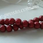 Жемчуг матовый бордовый, низка (100 шт.), 8мм