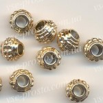 БУСИНЫ МЕТАЛЛИЧЕСКИЕ, круглые, золотистые, 7mm