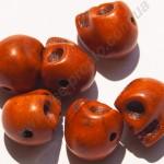 БИРЮЗА СИНТЕТИЧЕСКАЯ, БУСИНЫ в форме черепа, коричневые, 10X12mm
