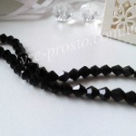 Хрусталик биконус, черный B004, 50шт. (4х4мм)