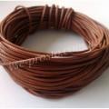 ШНУР ХЛОПКОВЫЙ ВОЩЕНЫЙ, с восковой оплеткой, коричневый, 1mm