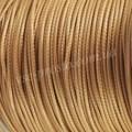 ШНУР ХЛОПКОВЫЙ ВОЩЕНЫЙ, с восковой оплеткой, коричневый светлый, 1mm