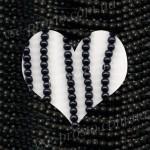БУСИНЫ черные, круглые, 4mm, низка