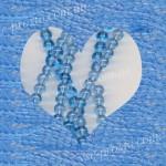 БУСИНЫ, голубые №009, круглые, 4mm, низка