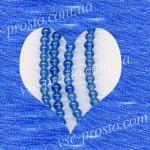 БУСИНЫ, синие №010, круглые, 4mm, низка