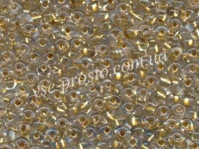 Drops 68284, прозрачный (с золотистой серединкой), 5/0