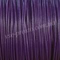 ШНУР ХЛОПКОВЫЙ ВОЩЕНЫЙ, с восковой оплеткой, фиолетовый, 1mm